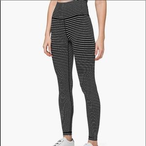 Nwt lululemon stripe wunder under tight
